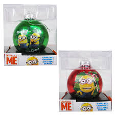 despicable me minion green glass ornament set kurt s adler