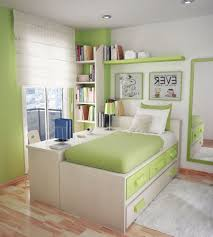 Ikea Small Bedroom Design Green Themed Small Bedroom Design With Twin Storage Bed And Wall