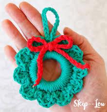 easy crochet wreath ornament skip to my lou