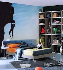 Small Teenage Bedroom Decorated With Paisley Wallpaper And by Awesome Teens Bedroom Ideas With Modern Teen Boys Kids Room Decor