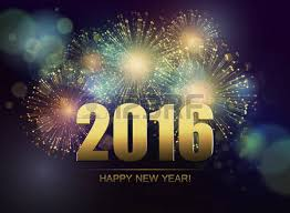 vector fireworks background happy new year 2016 royalty