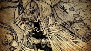 halloween raven background death metal black heavy dark horror evil poster reaper crow raven