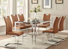 marble top dining room sets watt collection chrome base faux marble top dining table 5178 60