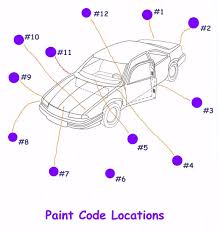 automobile paint code locations