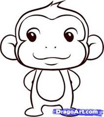 monkey drawing easy best images collections hd for gadget