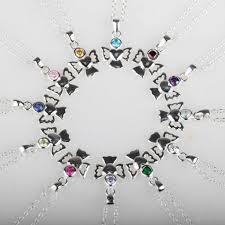 Children S Birthstone Necklace Children U0027s Solid Silver Angel Birthstone Necklace By Nest