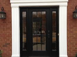 door beautiful front door window black stained wooden single