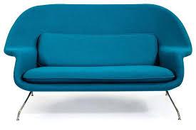 Modern Loveseat Mid Century Modern Loveseat Wool Womb Modern Sofa