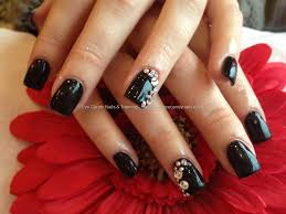 40 stylish black acrylic nail art designs