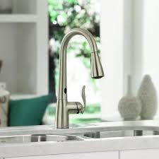 moen kitchen faucets brushed nickel moen brushed nickel kitchen faucet modern kitchen 2017