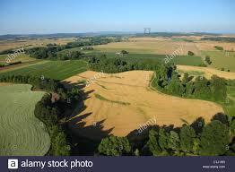 aerial view of farmland willamette valley oregon stock photo