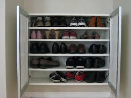 deluxe shoe ottoman bench storage diy rack 27197 interior decor