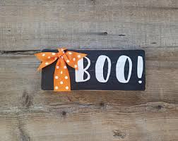 sign decor boo sign etsy