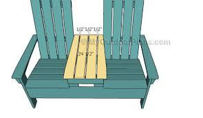 double adirondack chair plans myoutdoorplans free woodworking