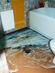 3d bathroom design 3d floor design brings the ocean to your home