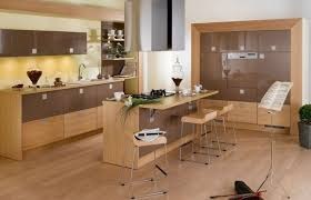 modern kitchen furniture ideas modern kitchen ideas with wood kitchen cabinets and brown floor