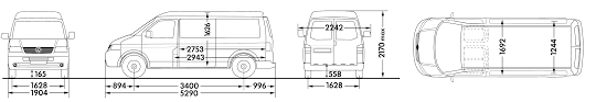 volkswagen bus drawing car blueprints volkswagen transporter t5 panel van lwb medium