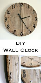 12 rustic wall clock ideas that will add a touch of diy to any space