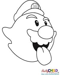 boo super mario coloring pages