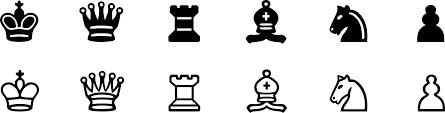 clipart chess symbols set