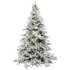 9 foot flocked tree pre lit artificial trees artificial