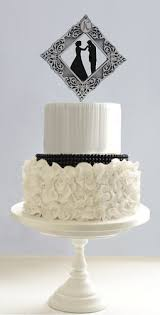 monogram wedding cake topper vintage wedding cake topper with groom s