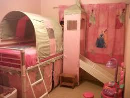 Castle Bunk Bed With Slide Girl U0026apos S Castle Tent Twin Metal Loft Bed With Slide U0026amp Under