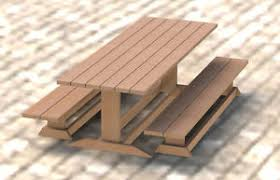 trestle style picnic table diy building plans 003 easy to build