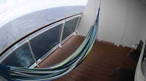 how to hang a hammock on a cruise ship balcony youtube