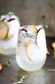 plum and thyme prosecco smash prosecco simple syrup and syrup