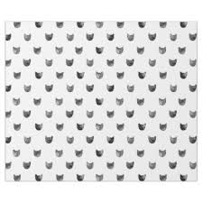 black and white cat pattern wrapping paper zazzle