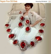 wedding necklace set red images Wedding jewelry set red crystal jewelry set bridesmaid jewelry jpg