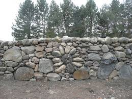 Rock Walls Landscaping Stone Flower Design Built Into Drystacked - Rock wall design