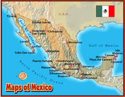 map of mexico cities mexico earth map
