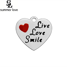 inspirational charms summer bulk engraved inspirational charms letter printed live