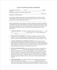 lease agreement contract sample 9 examples in word pdf