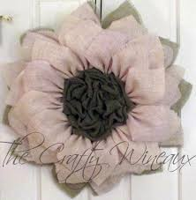 burlap sunflower wreath large 30 burlap flower with center burlap sunflower