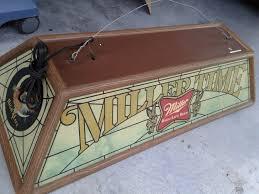 Miller Genuine Draft Pool Table Light Vintage Miller High Life Rotating Bouncing Balls Beer Sign