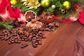 coffee bean anise cinnamon and tree with
