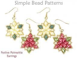 images of christmas earrings diy christmas earrings beaded poinsettia pattern with diamonduo beads