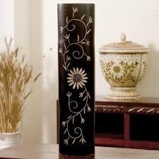 Buy Vases Online Buy Floral Long U0027n Strong Black Vase Wooden Flower Vases Online