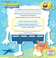 nickalive get set for jeans for genes day 2015 with spongebob