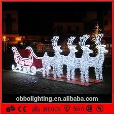 large outdoor lights sleigh light reindeer