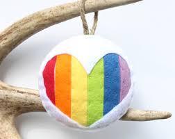 rainbow ornaments etsy