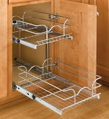 kitchen cabinet organizers pull out shelves two tier cabinet