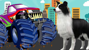 monster truck cartoon videos monster truck stunts for kids monster truck animated videos