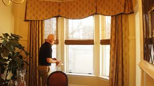 professional installation window dressing with drapery