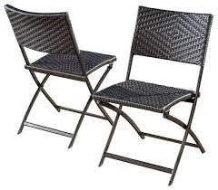 jason outdoor wicker folding chairs set of 2 brown