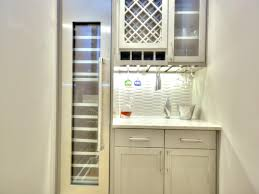 contemporary wet bar with tall wine refrigerator hgtv kitchen