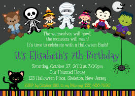 halloween birthday party invitations cloveranddot com
